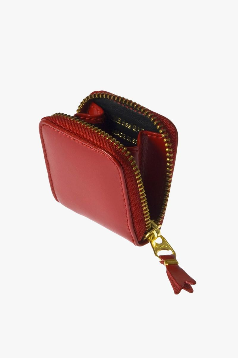 Cdg leather wallet classic Red