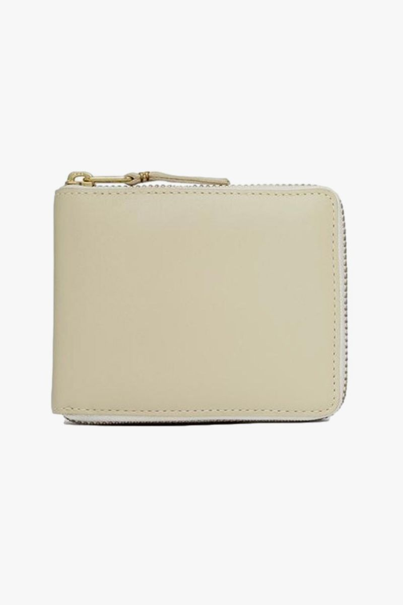 Cdg leather wallet classic White