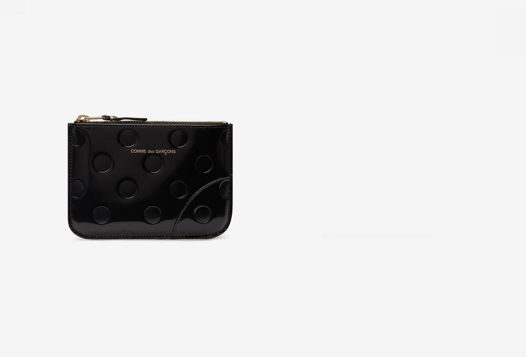 COMME DES GARÇONS WALLETS / Cdg leather wallet polka dots Sa8100ne black