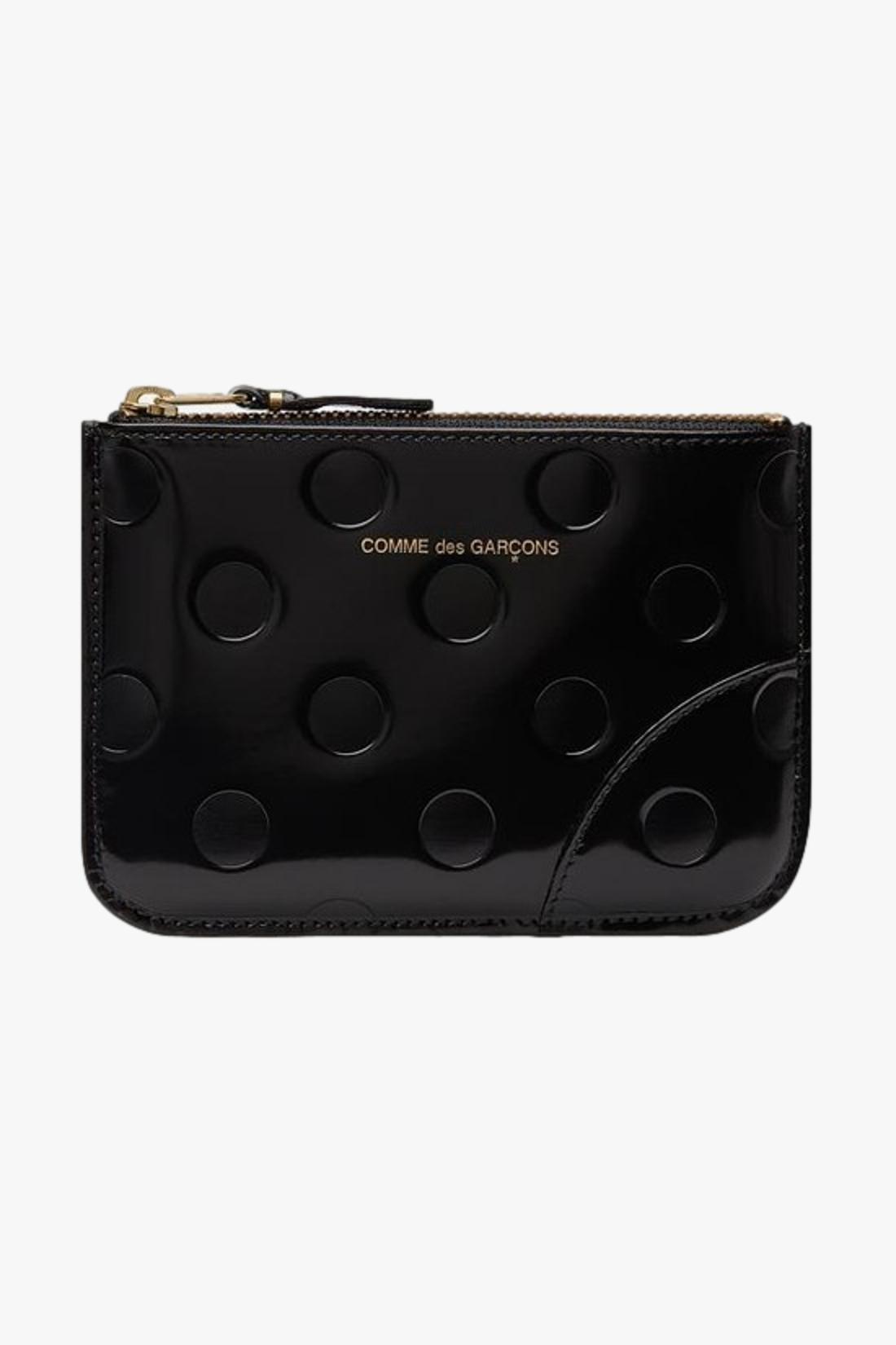 COMME DES GARÇONS WALLETS / Cdg leather wallet polka dots Black