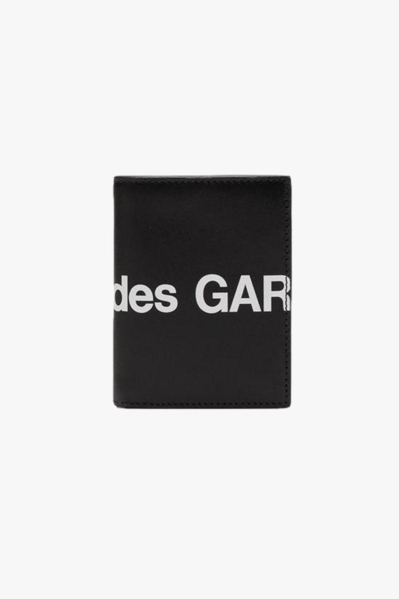 Cdg huge logo wallet sa0641hl Black