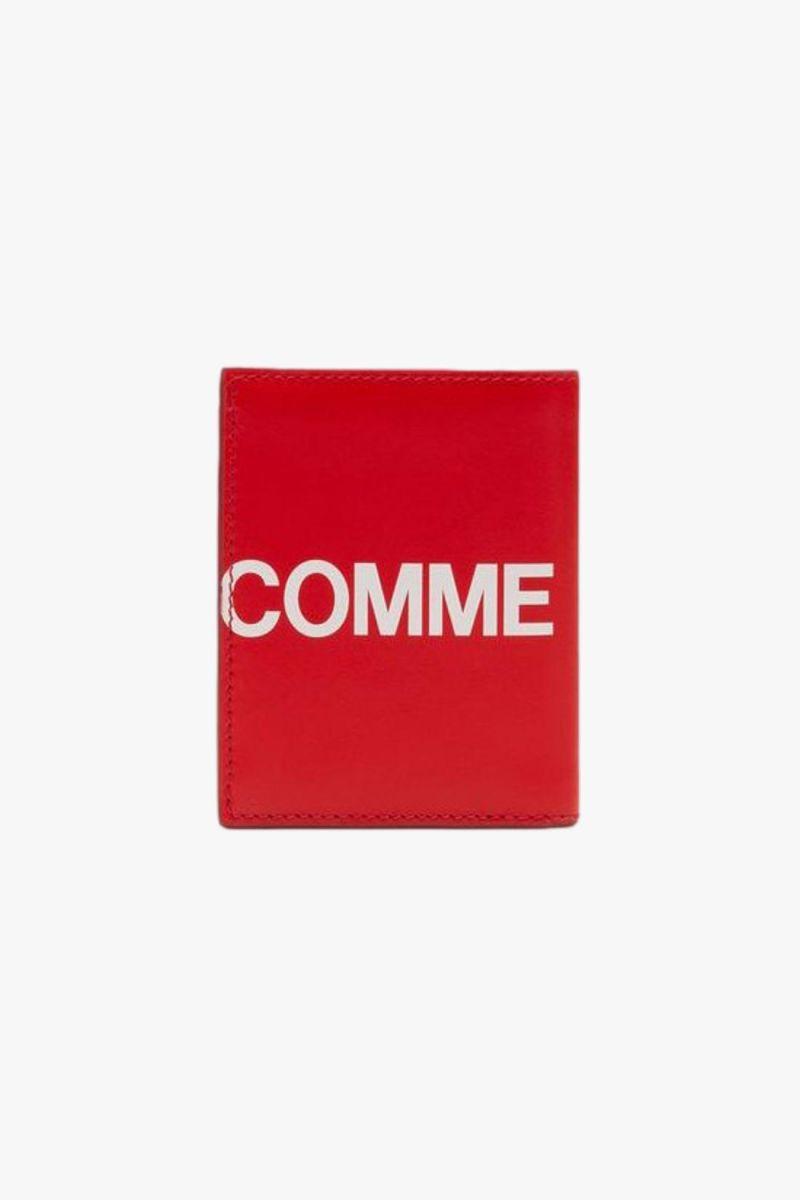 Cdg huge logo wallet sa0641hl Red
