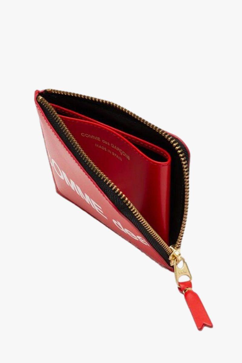 Cdg huge logo wallet sa3100hl Red