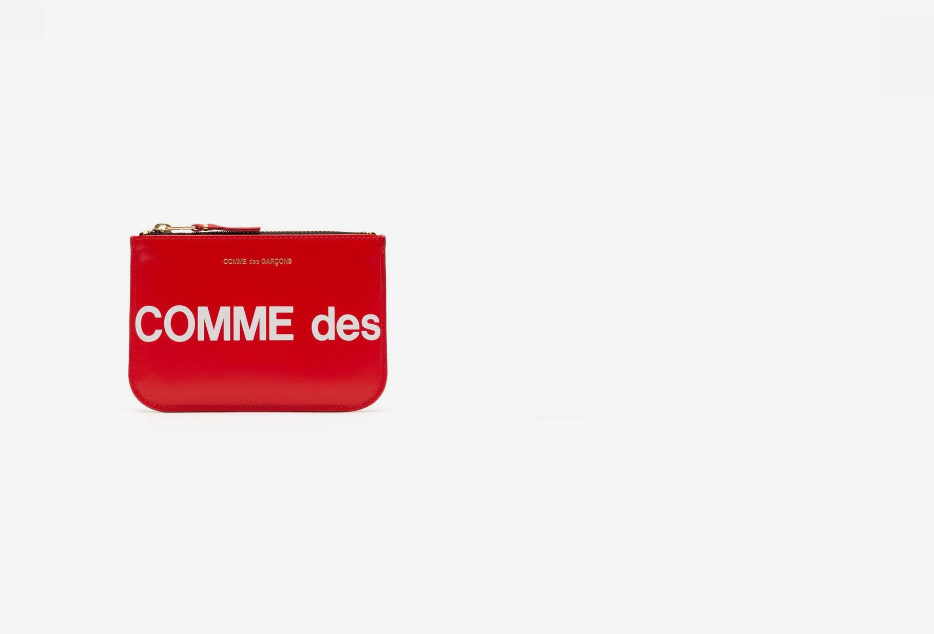 COMME DES GARÇONS WALLETS / Cdg huge logo wallet sa8100hl Red