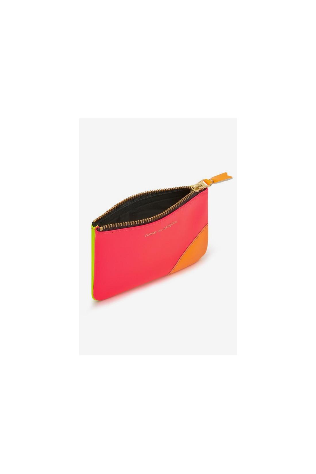 COMME DES GARÇONS WALLETS / Cdg super fluo sa8100sf Pink yellow
