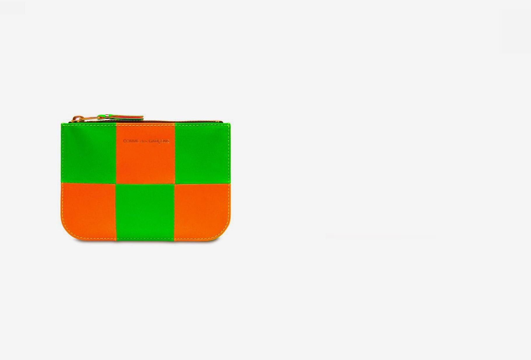 COMME DES GARÇONS WALLETS / Cdg wallet fluo squares Sa8100 orange green