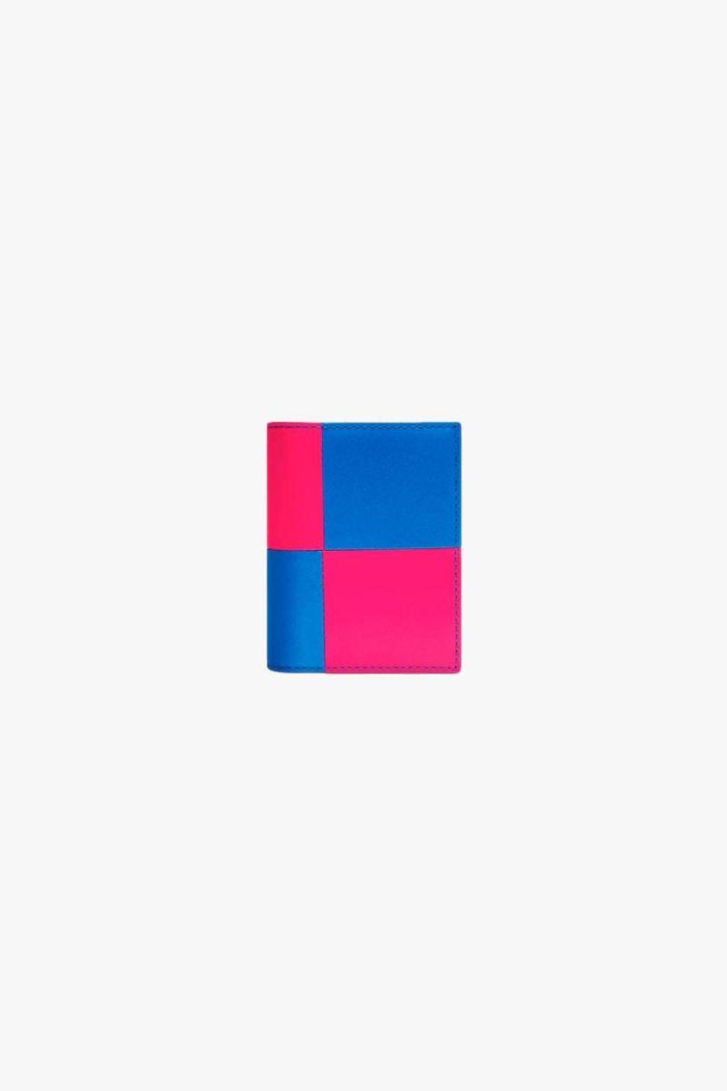 Cdg wallet fluo squares Pink blue