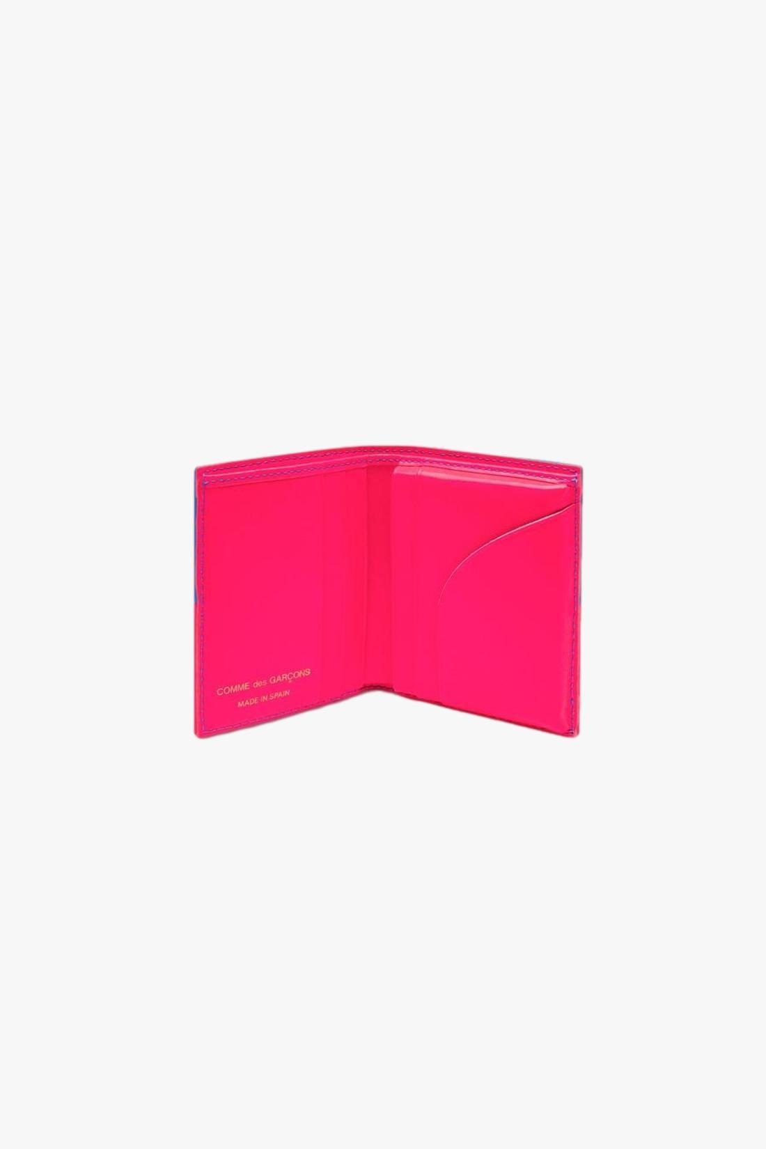 COMME DES GARÇONS WALLETS / Cdg wallet fluo squares Pink blue