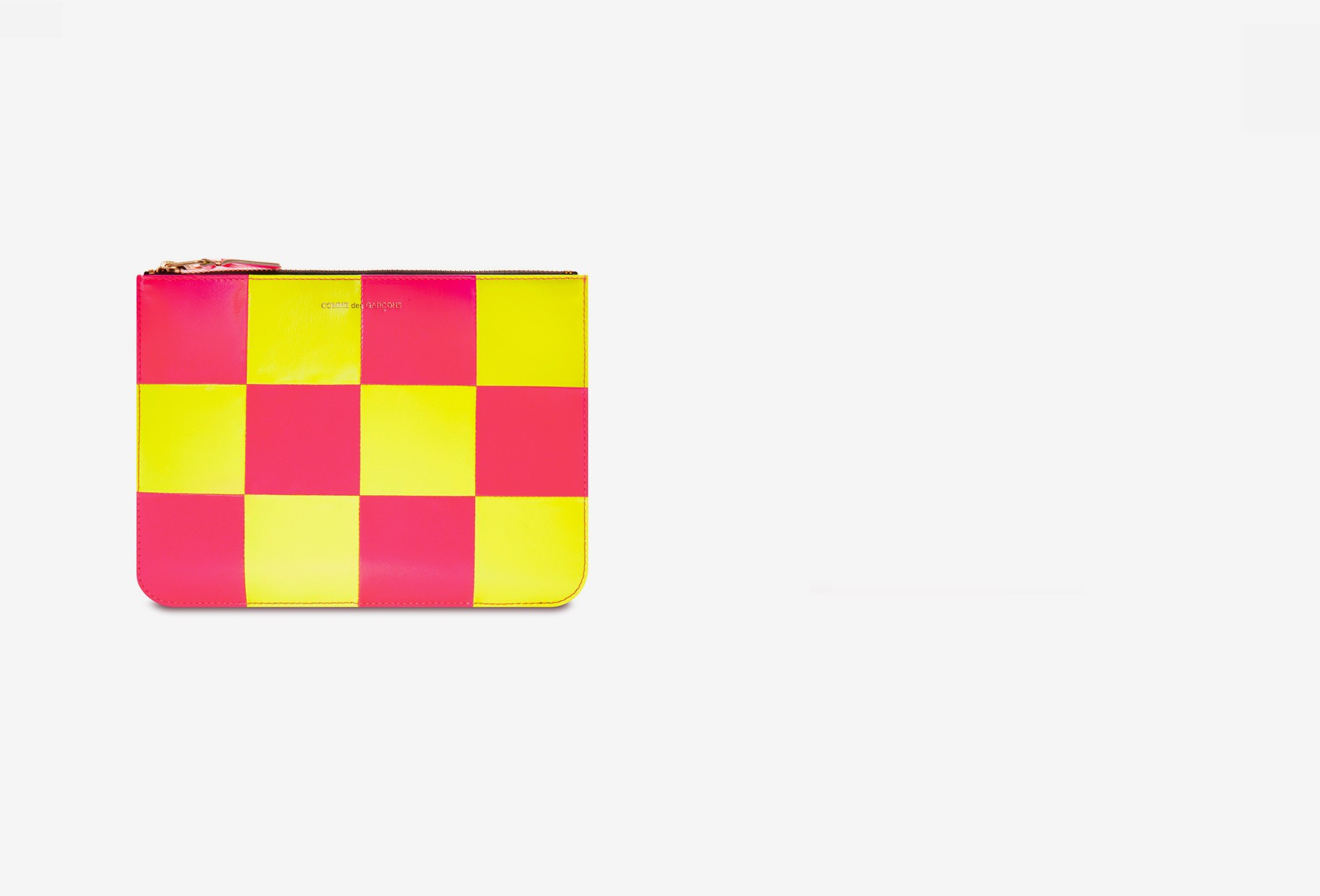 COMME DES GARÇONS WALLETS / Cdg wallet fluo squares Sa5100fs yellow pink