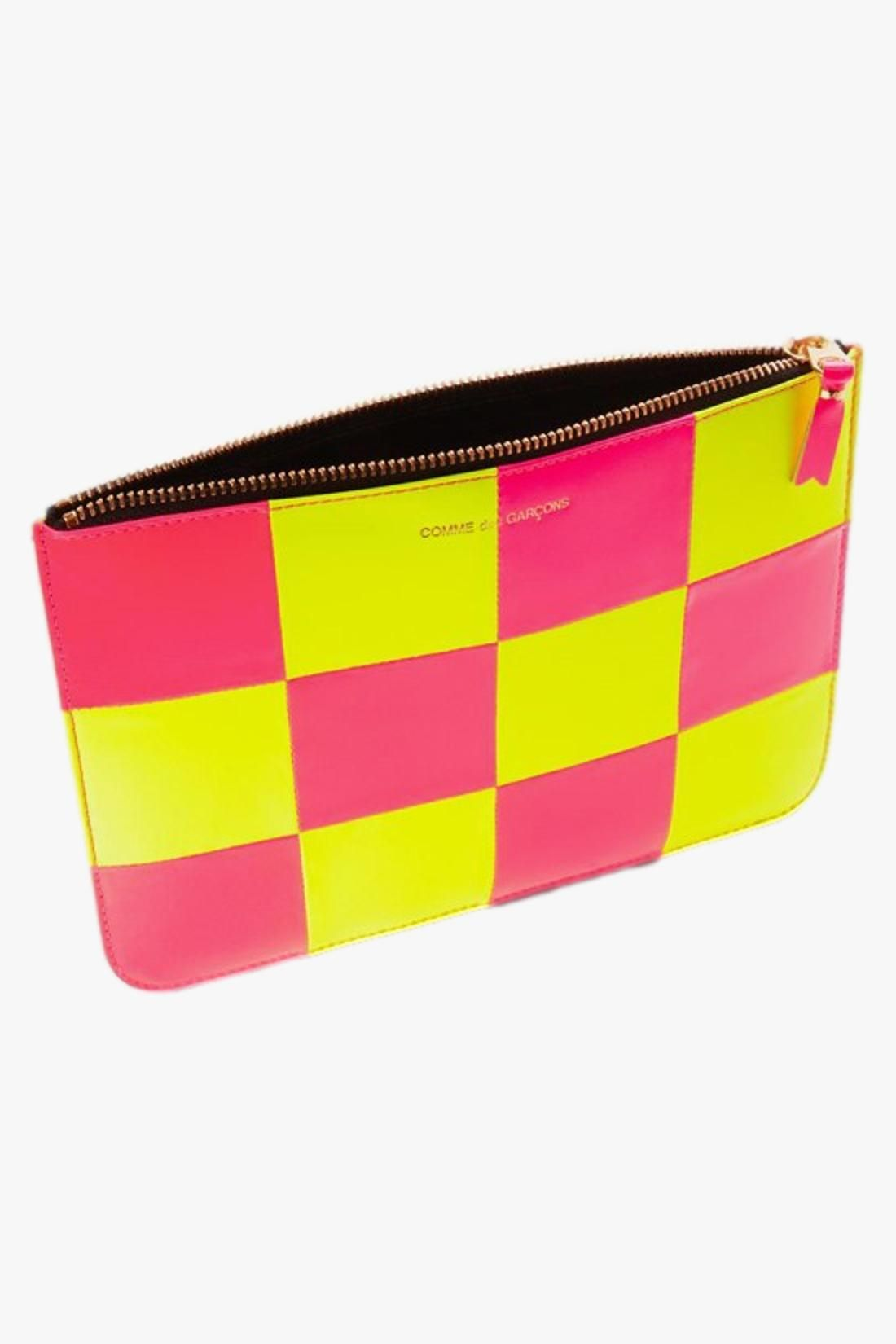 COMME DES GARÇONS WALLETS / Cdg wallet fluo squares Yellow pink