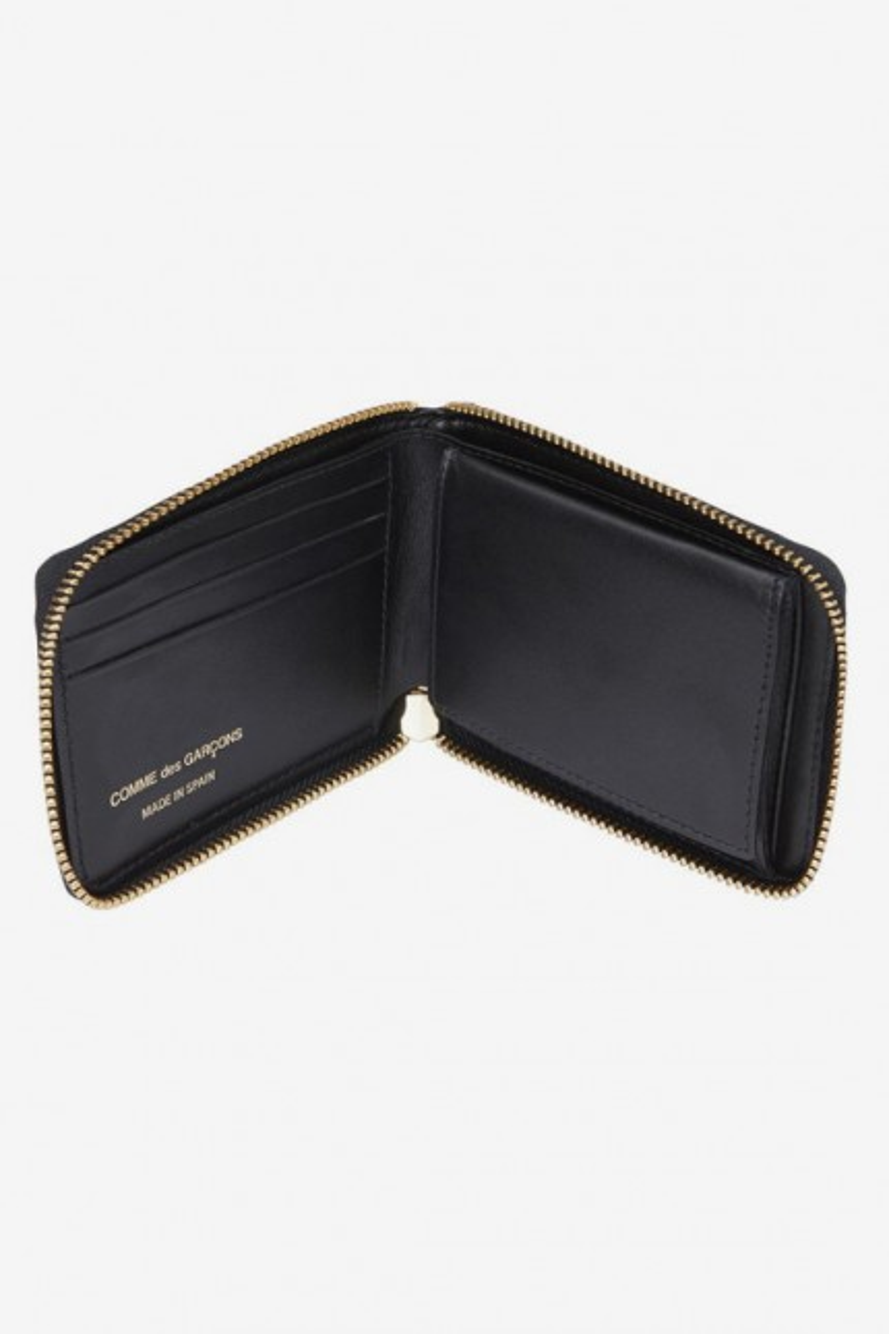 Cdg wallet tartan patchwork Green