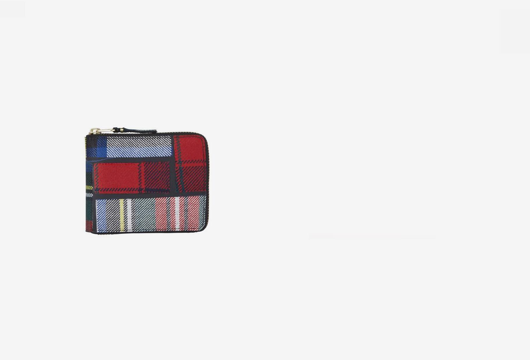 COMME DES GARÇONS WALLETS / Cdg wallet tartan patchwork Sa7100tp red