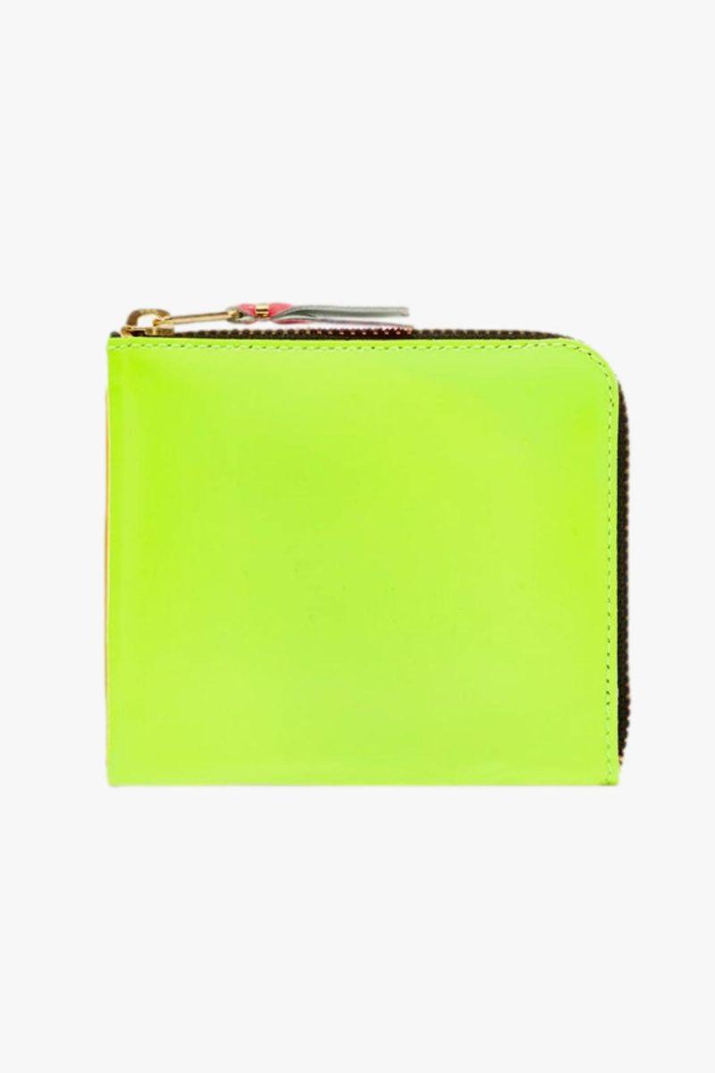 Cdg classic leather wallet Yellow light orange