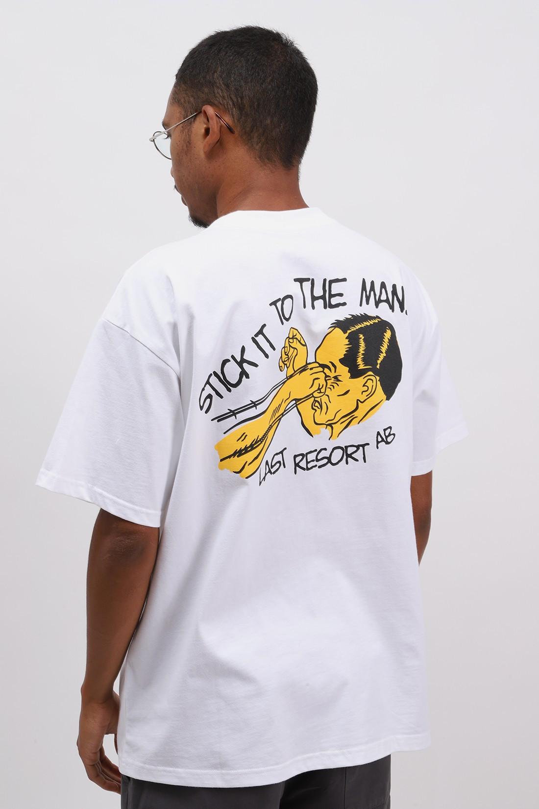 LAST RESORT AB / Stick it tee White