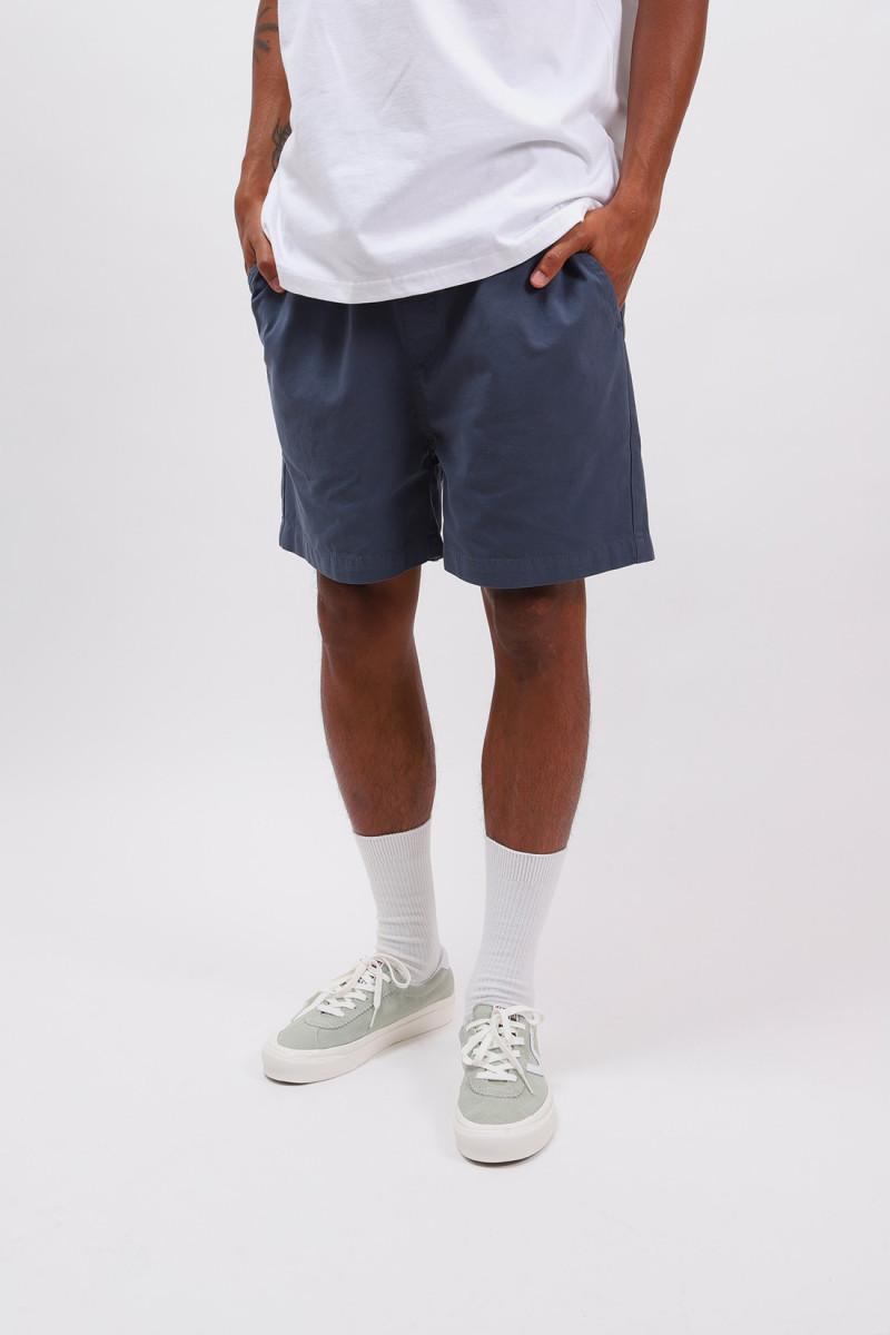 Classic organic twill shorts Petrol blue