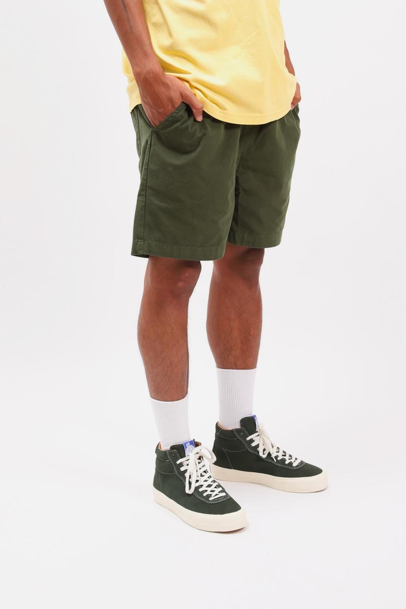 Classic organic twill shorts Seaweed green