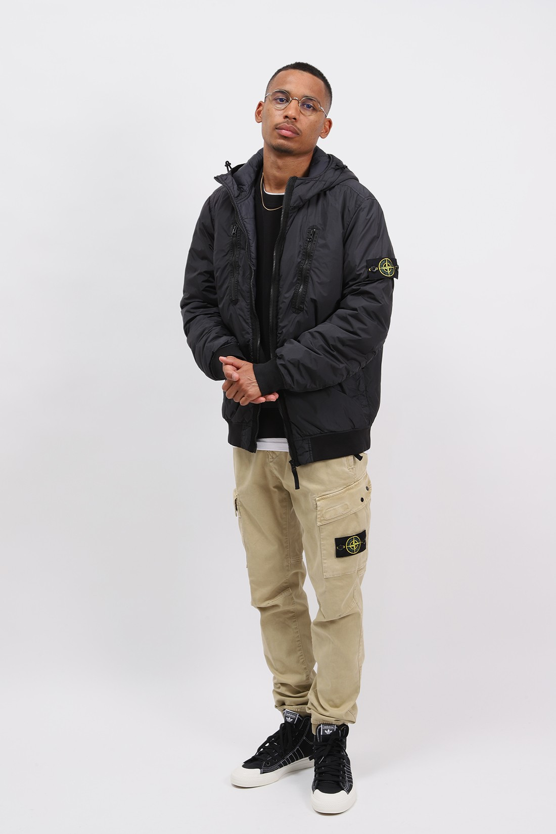 STONE ISLAND / 42223 hooded jacket v0029 Nero