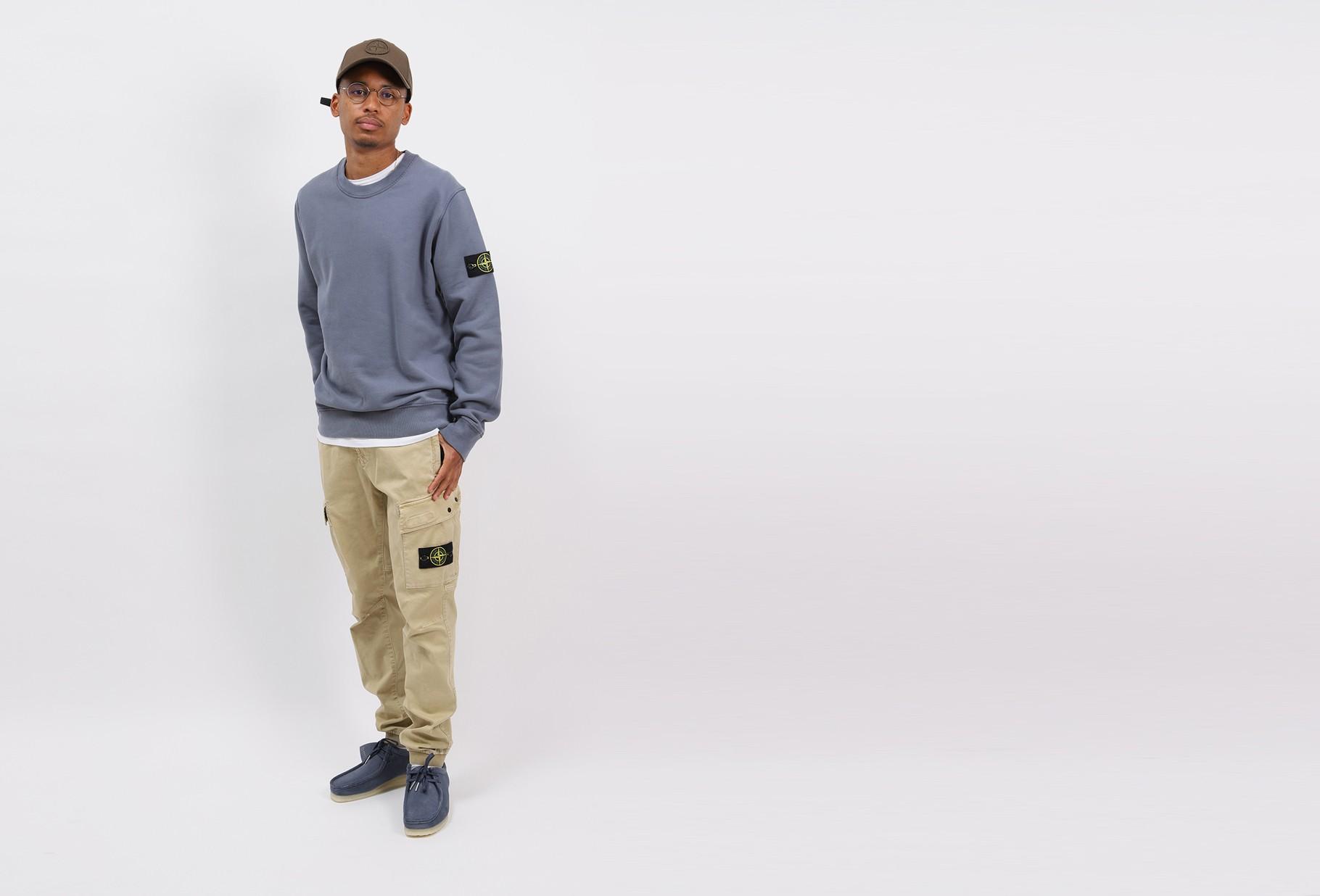 STONE ISLAND / 63020 crewneck sweater v0046 Carta zucchero