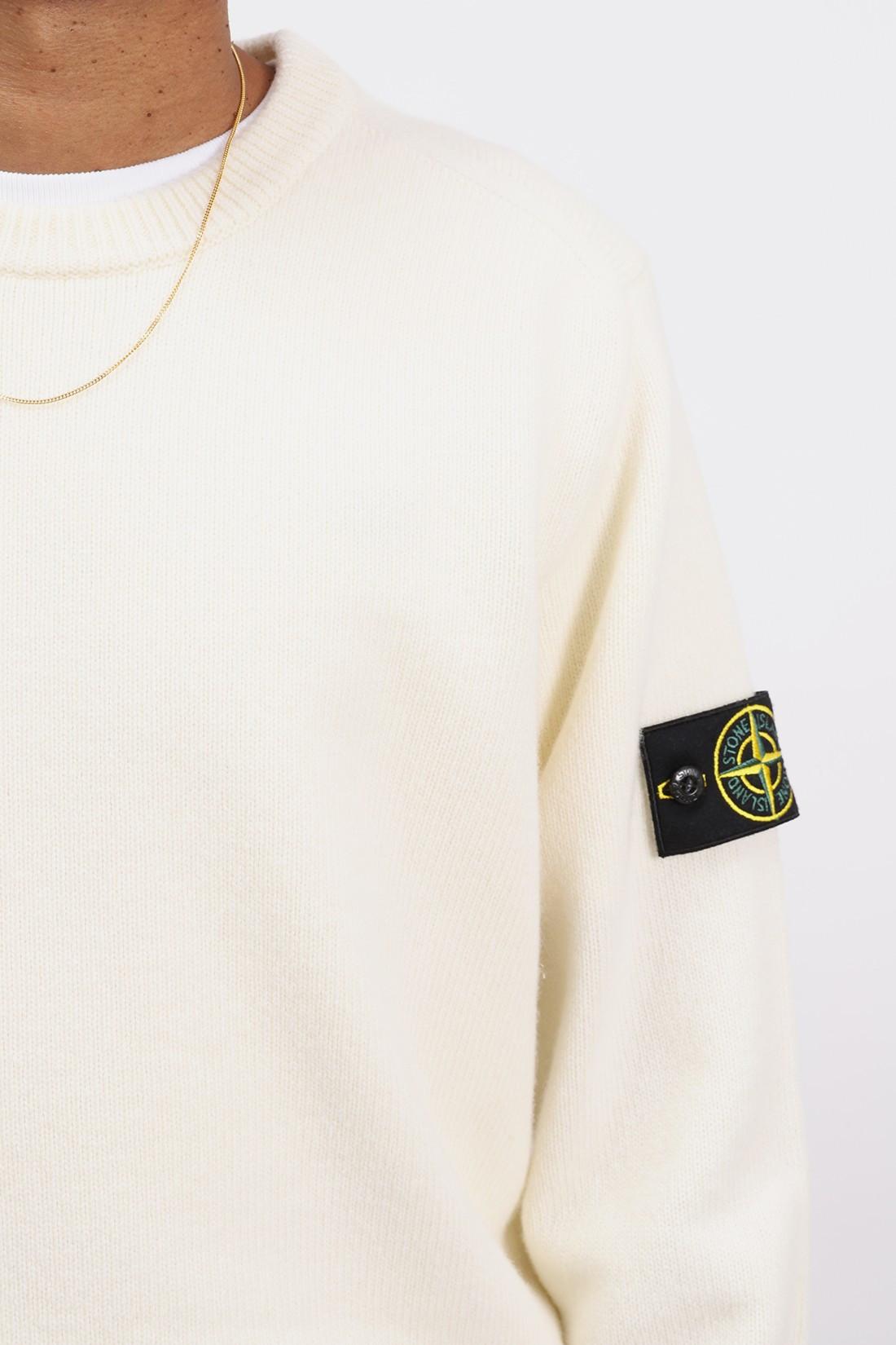 STONE ISLAND / 535a3 classic knit v0099 Bianco naturale