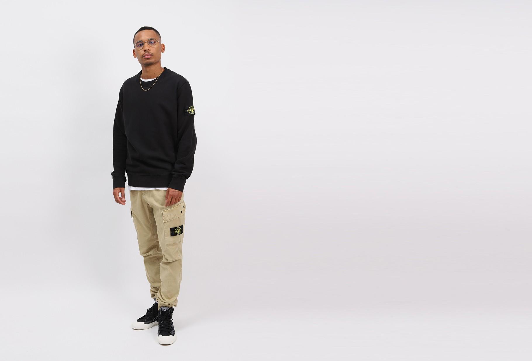 STONE ISLAND / 63020 crewneck sweater v0029 Nero