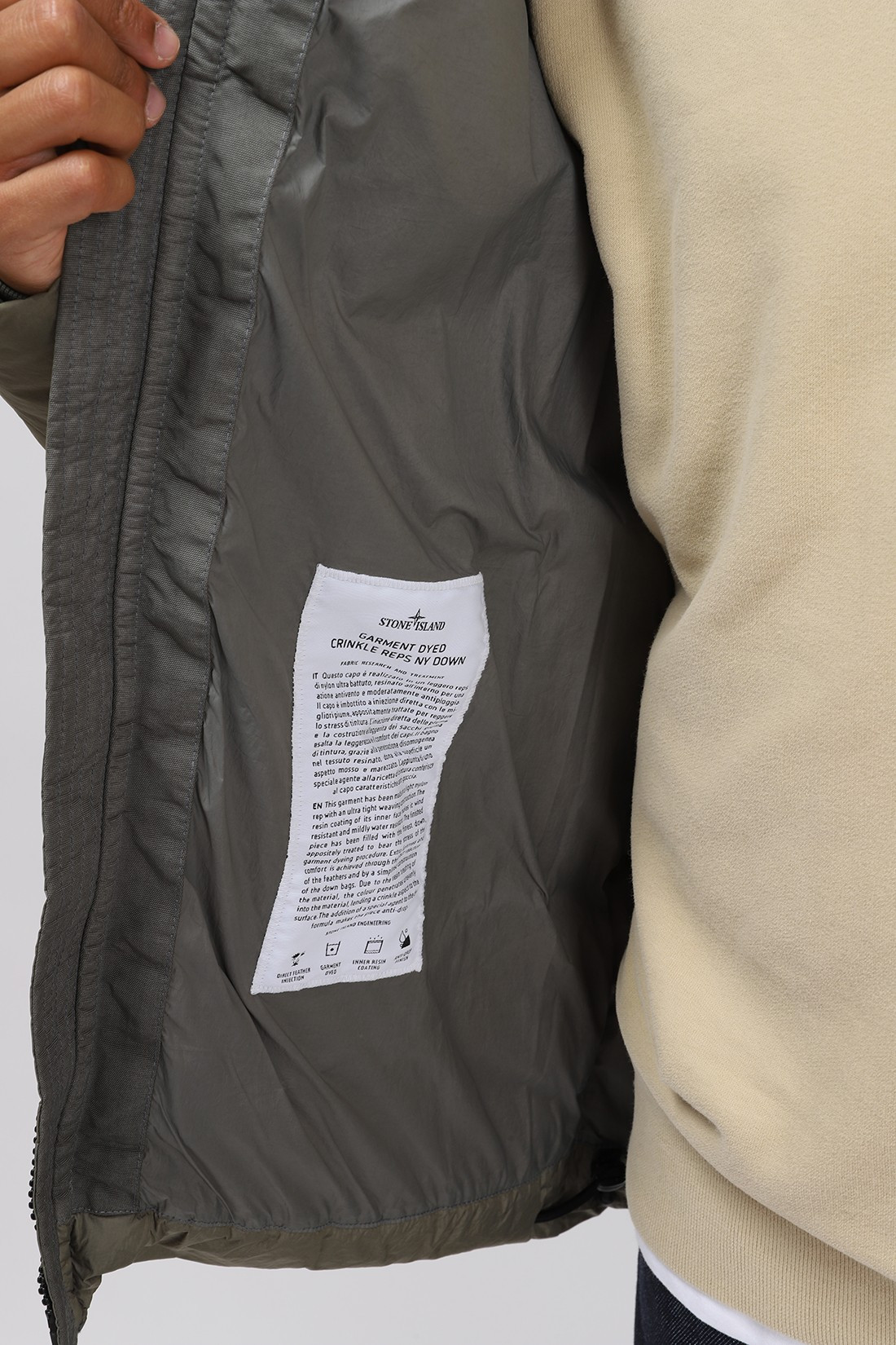 STONE ISLAND / 40123 real down jacket v0055 Salvia