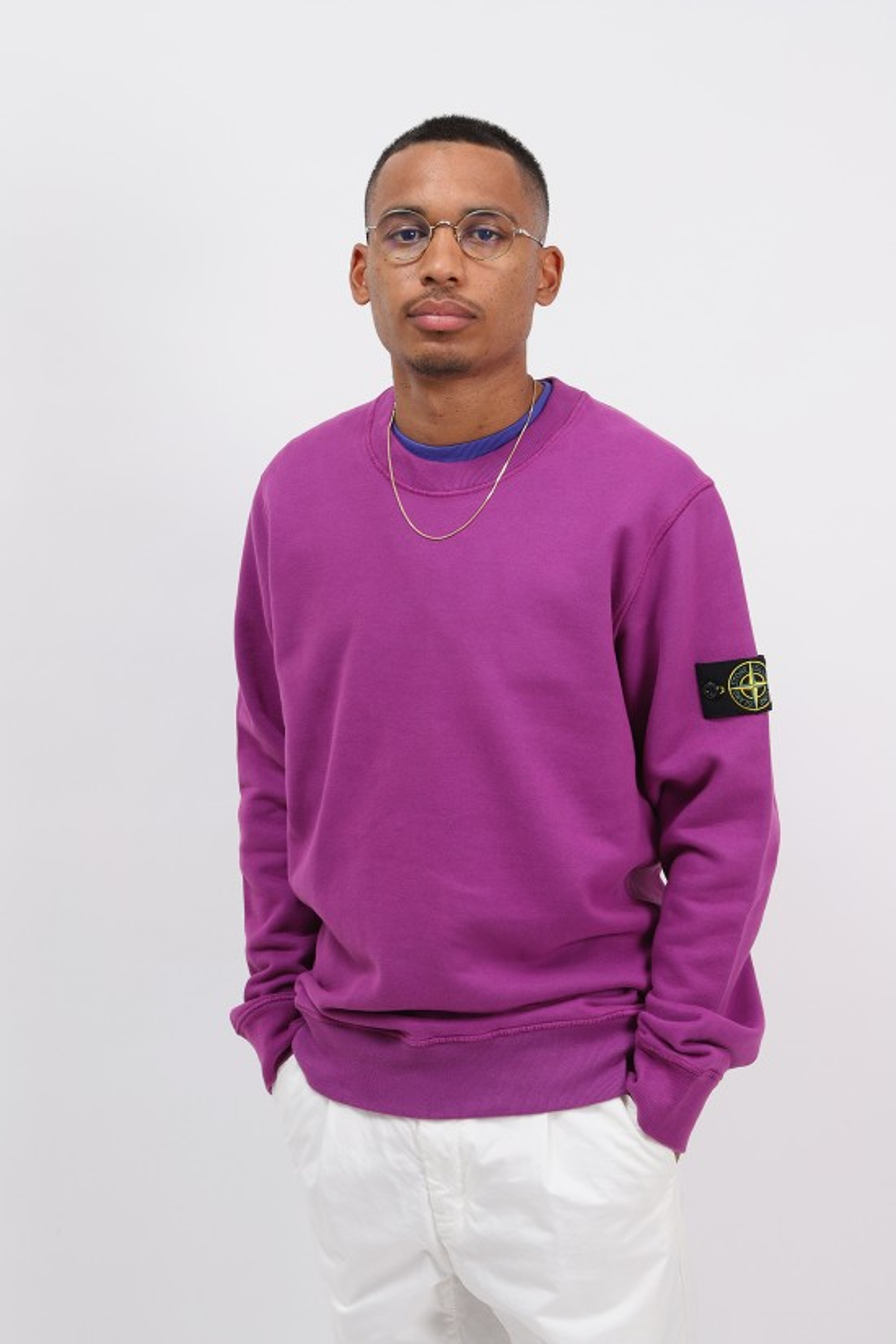 STONE ISLAND / 63020 crewneck sweater v0045 Magenta