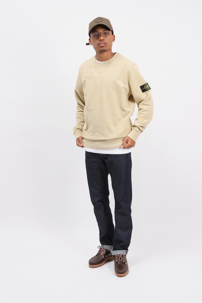63020 crewneck sweater v0091 Ecru