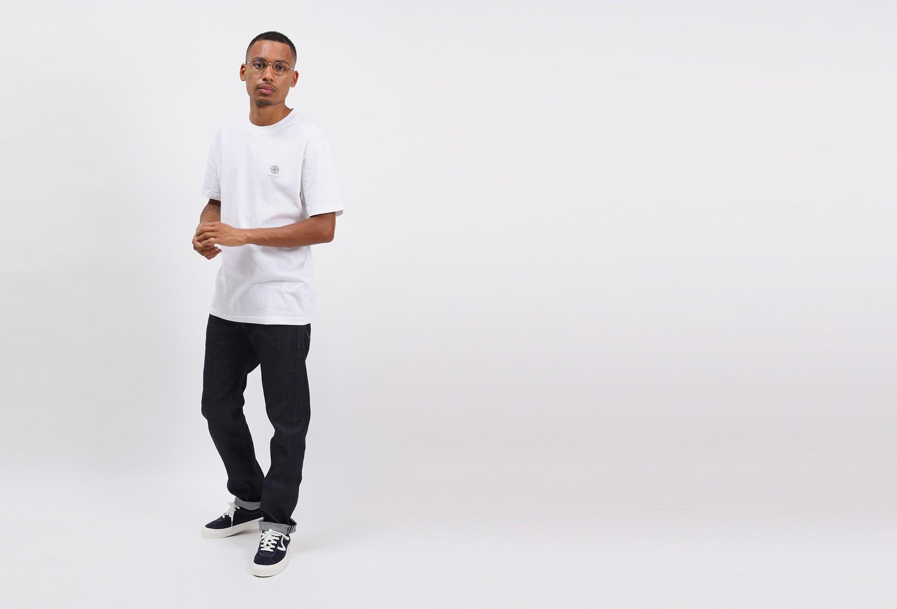 STONE ISLAND / 23742 fissato t shirt v0001 Bianco