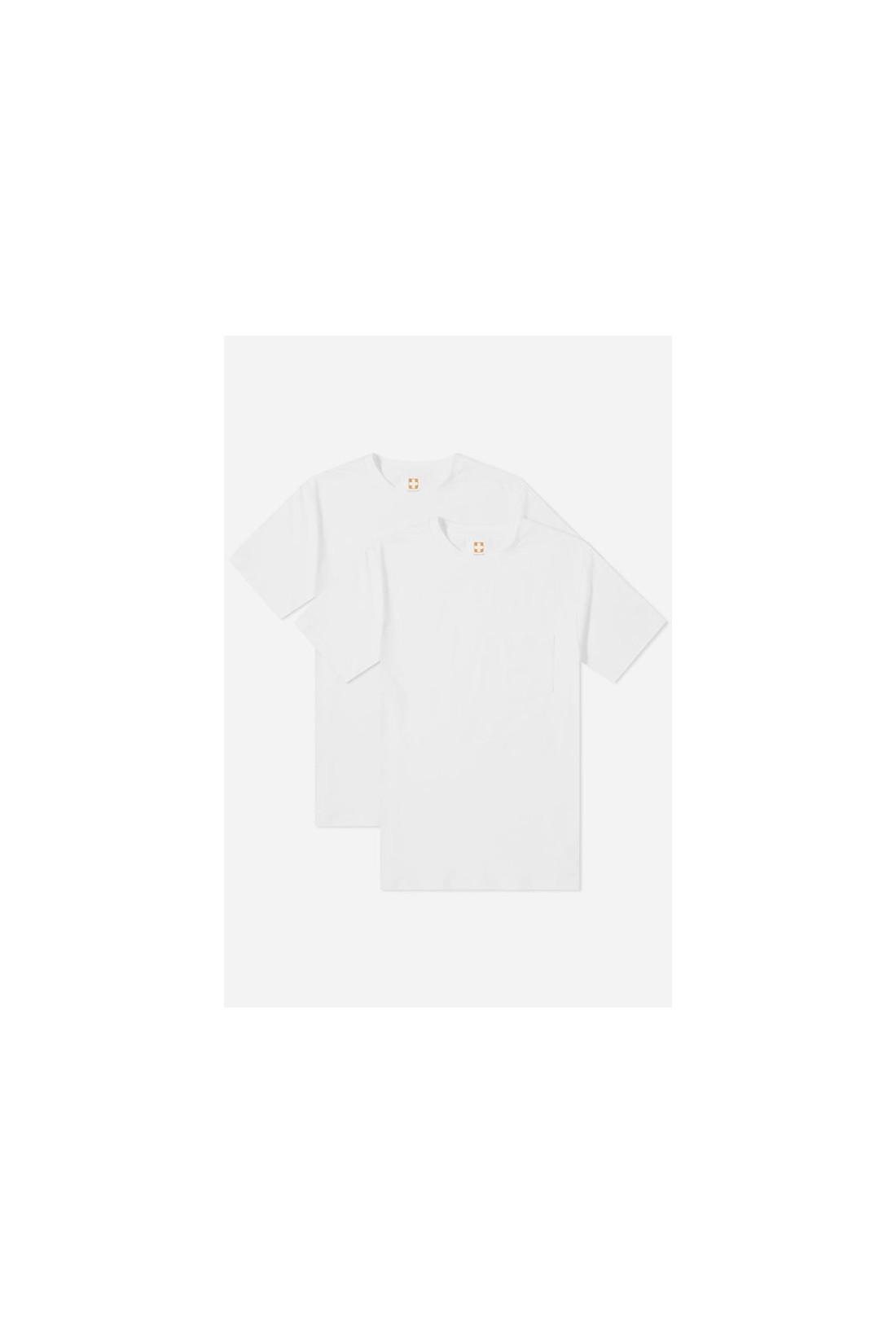 BEAMS PLUS / 2pack pocket tee White