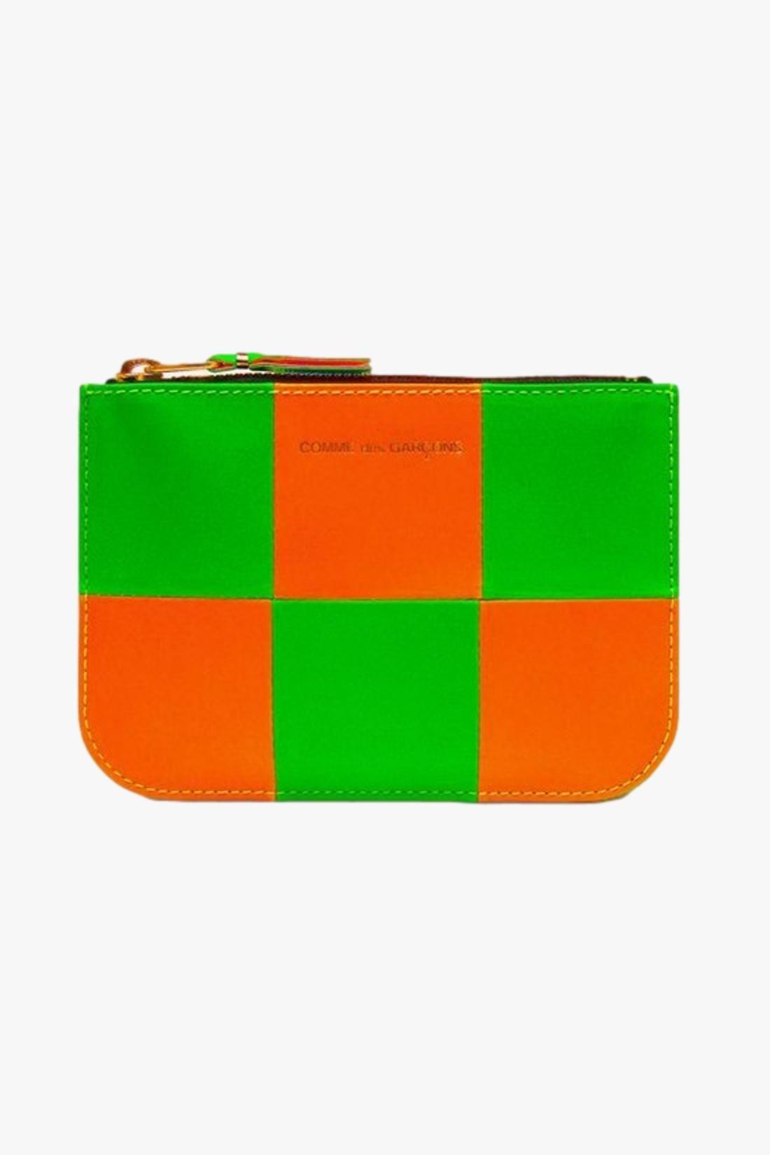COMME DES GARÇONS WALLETS / Cdg wallet fluo squares Orange green