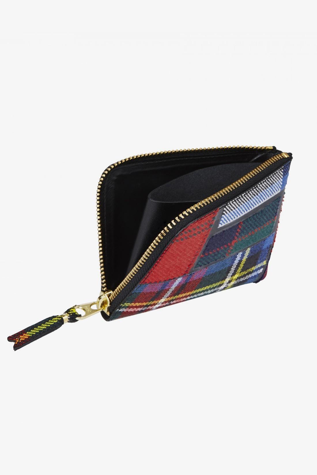 COMME DES GARÇONS WALLETS / Cdg wallet tartan patchwork Red
