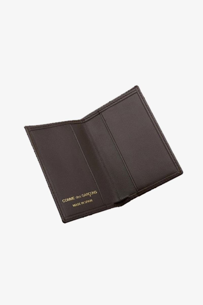 Cdg leather wallet classic Brown