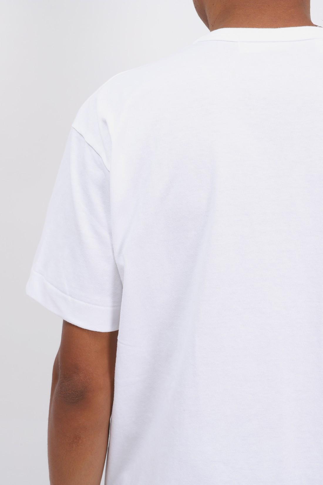 COMME DES GARÇONS PLAY / Red play t-shirt White