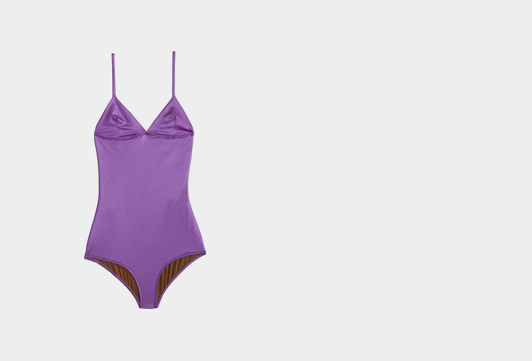 BASERANGE / Mississipi swimsuit Laguna purple