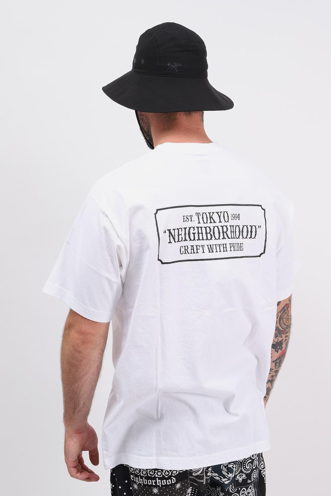 NEIGHBORHOOD / Bar & shield / c-tee . ss White
