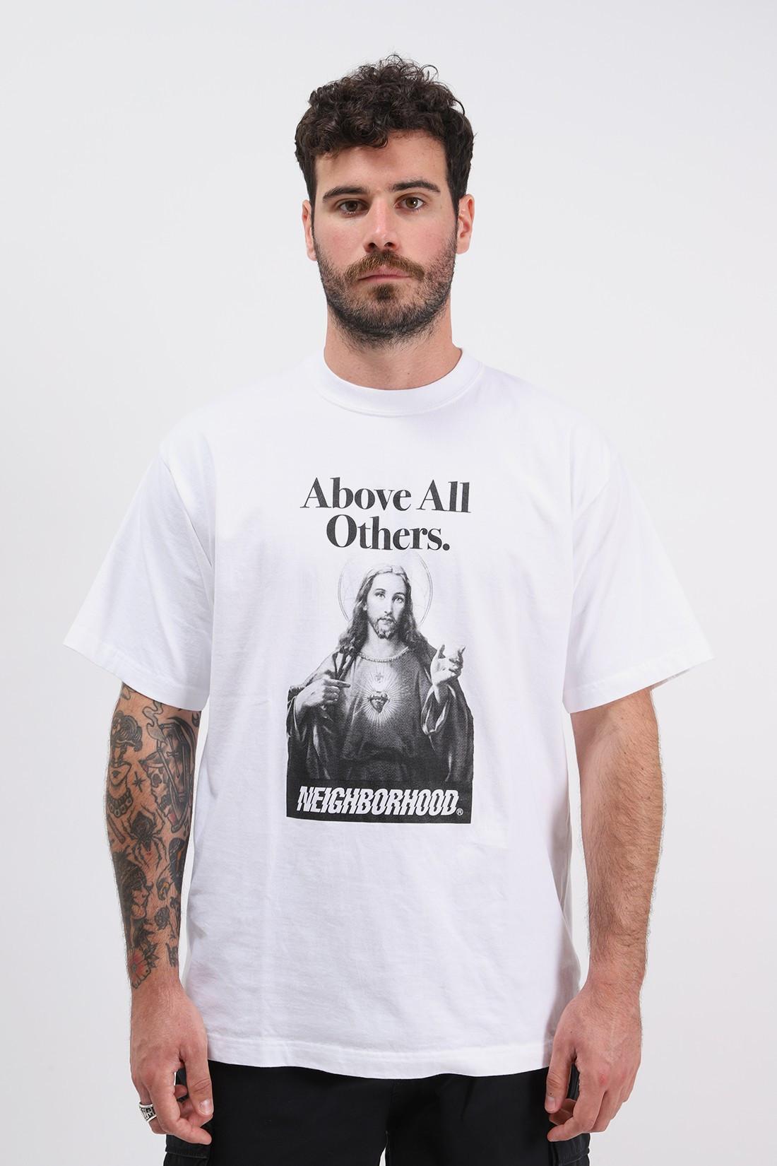 NEIGHBORHOOD / Pick your king / c-tee . ss White