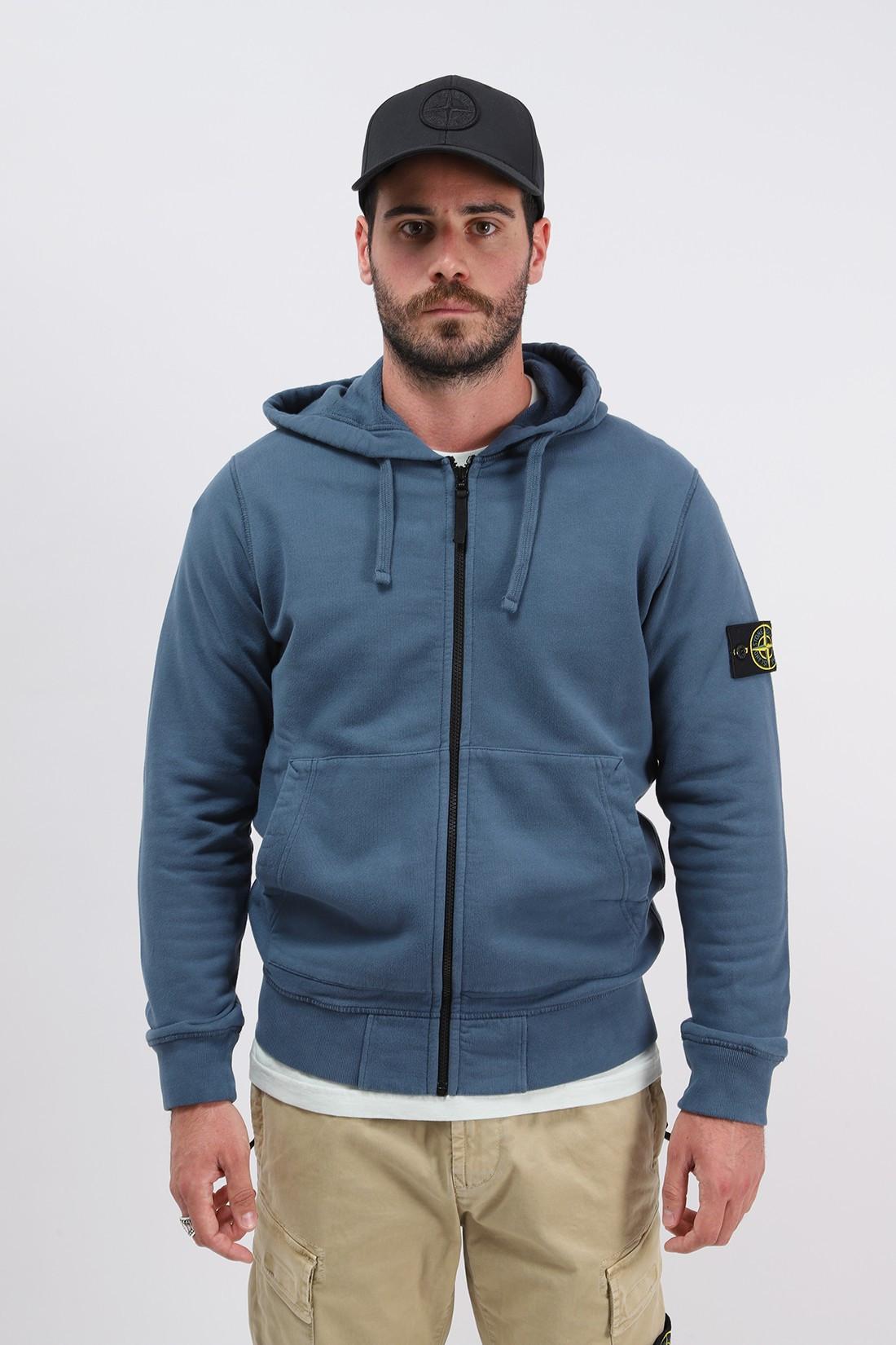 STONE ISLAND / 64220 hooded zip sweater v0023 Ottanio
