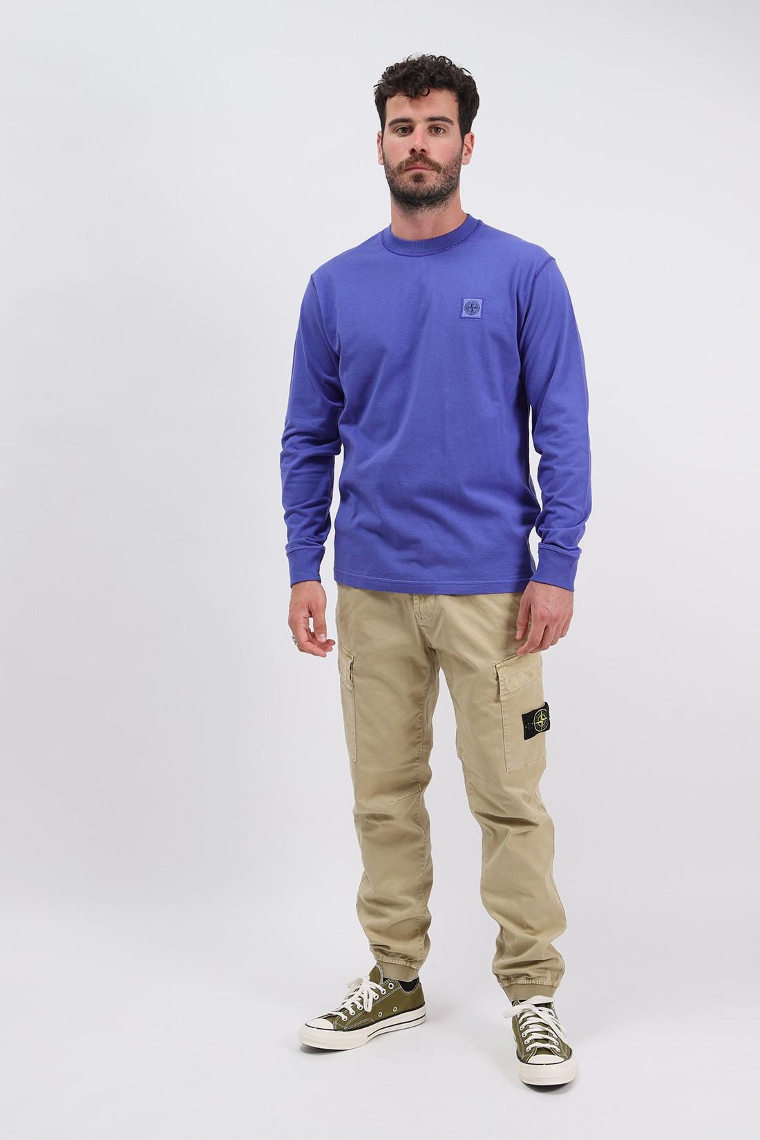 STONE ISLAND / 21842 ls fissato t shirt v0043 Pervinca