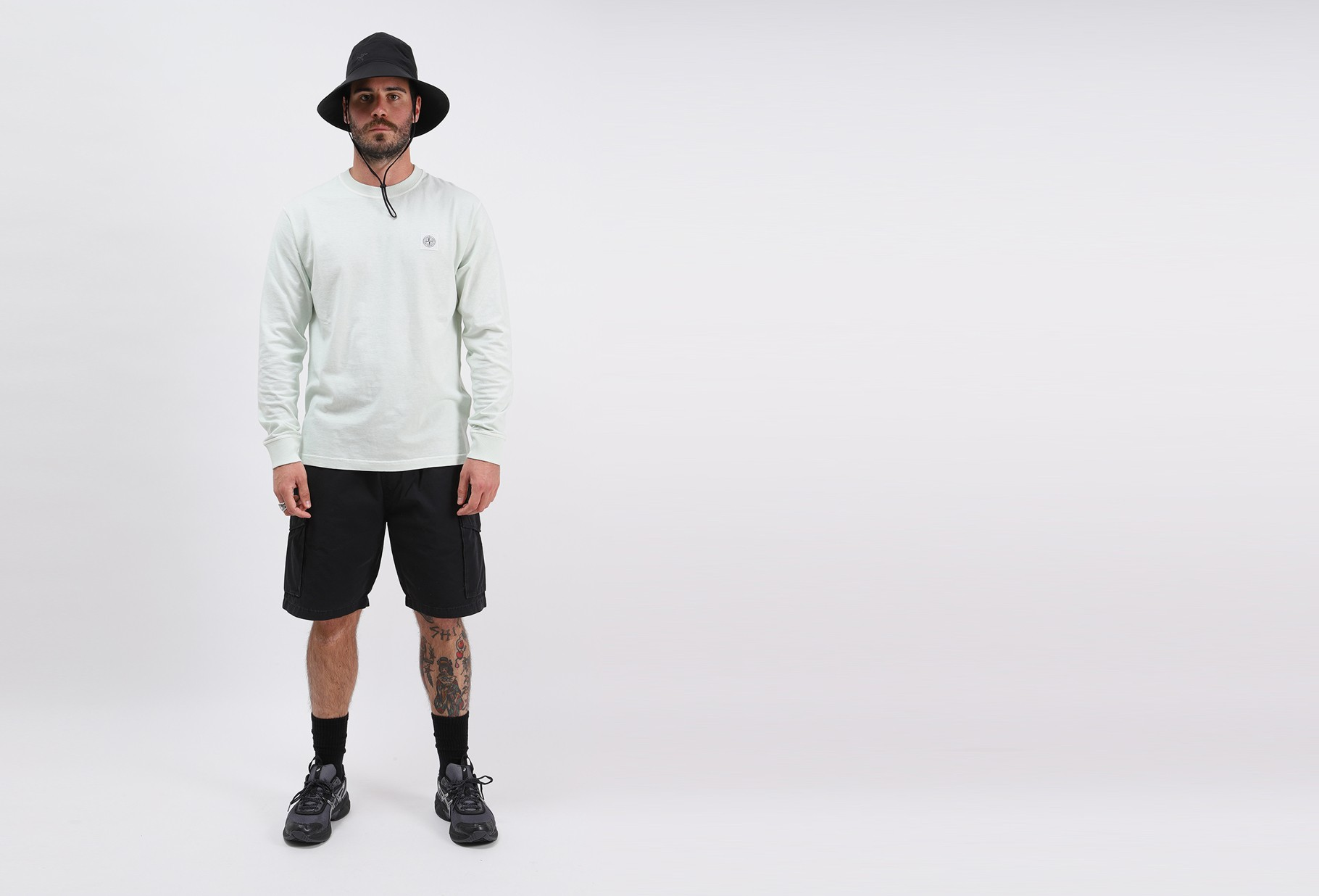 STONE ISLAND / 21842 ls fissato t shirt v0152 Verde chiaro