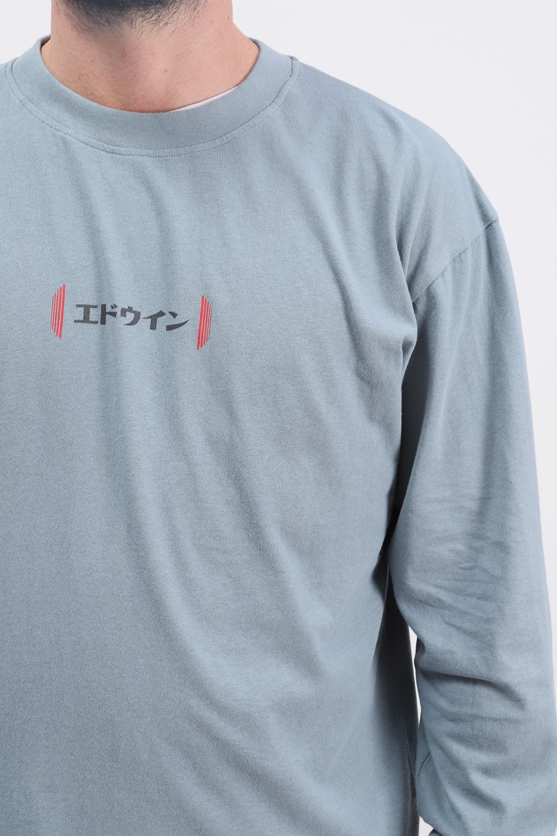 EDWIN / Aurora ls tee shirt Tarmac