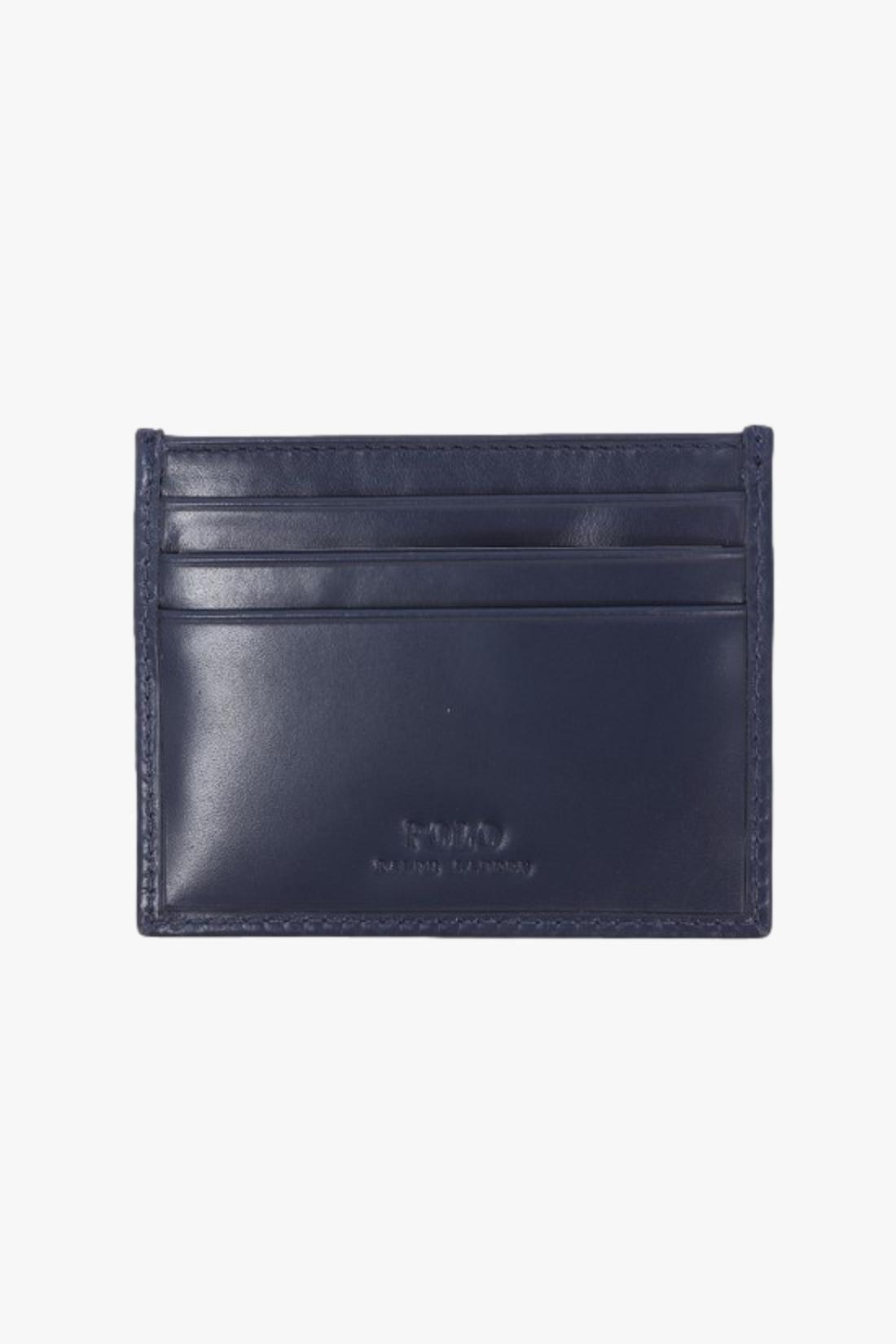 POLO RALPH LAUREN / Polo bear card case leather Navy