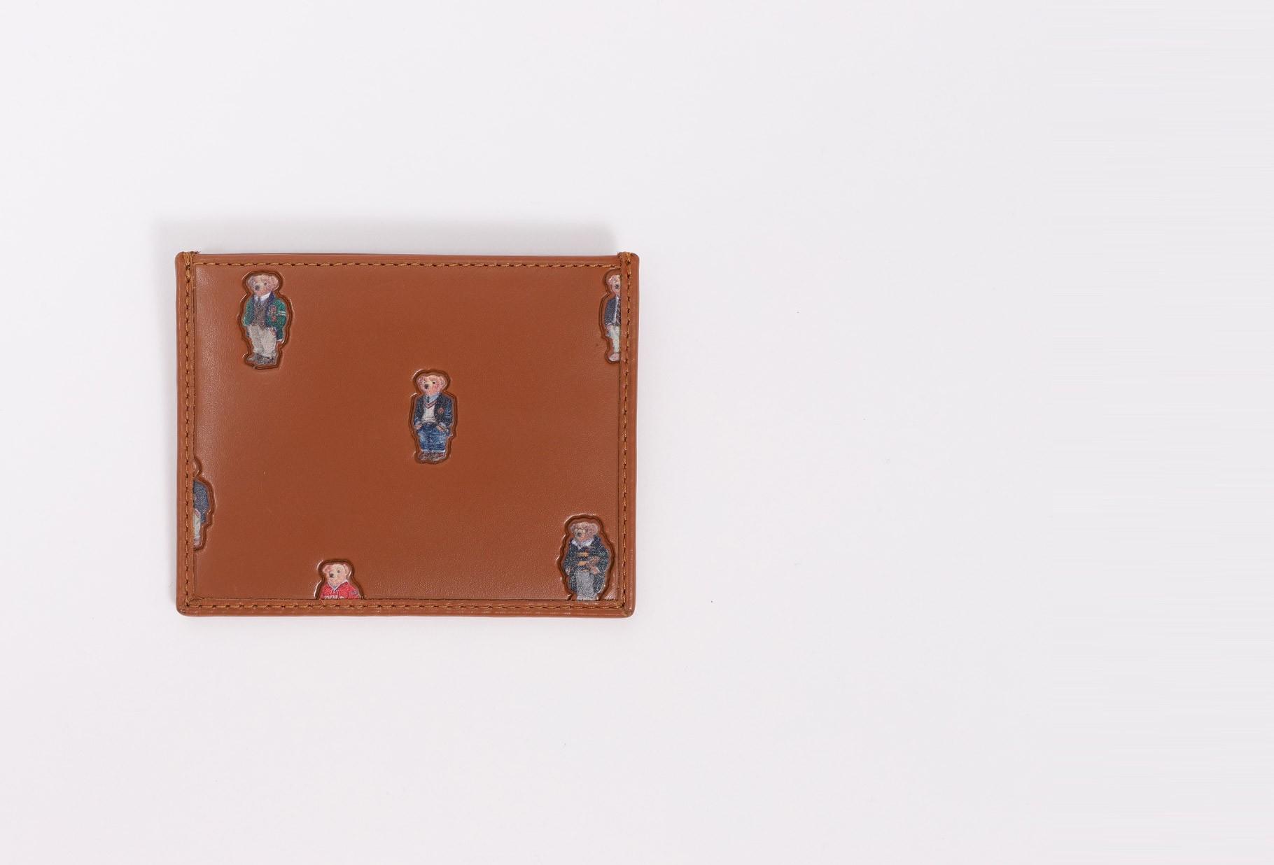 POLO RALPH LAUREN / Polo bear card case leather Tan