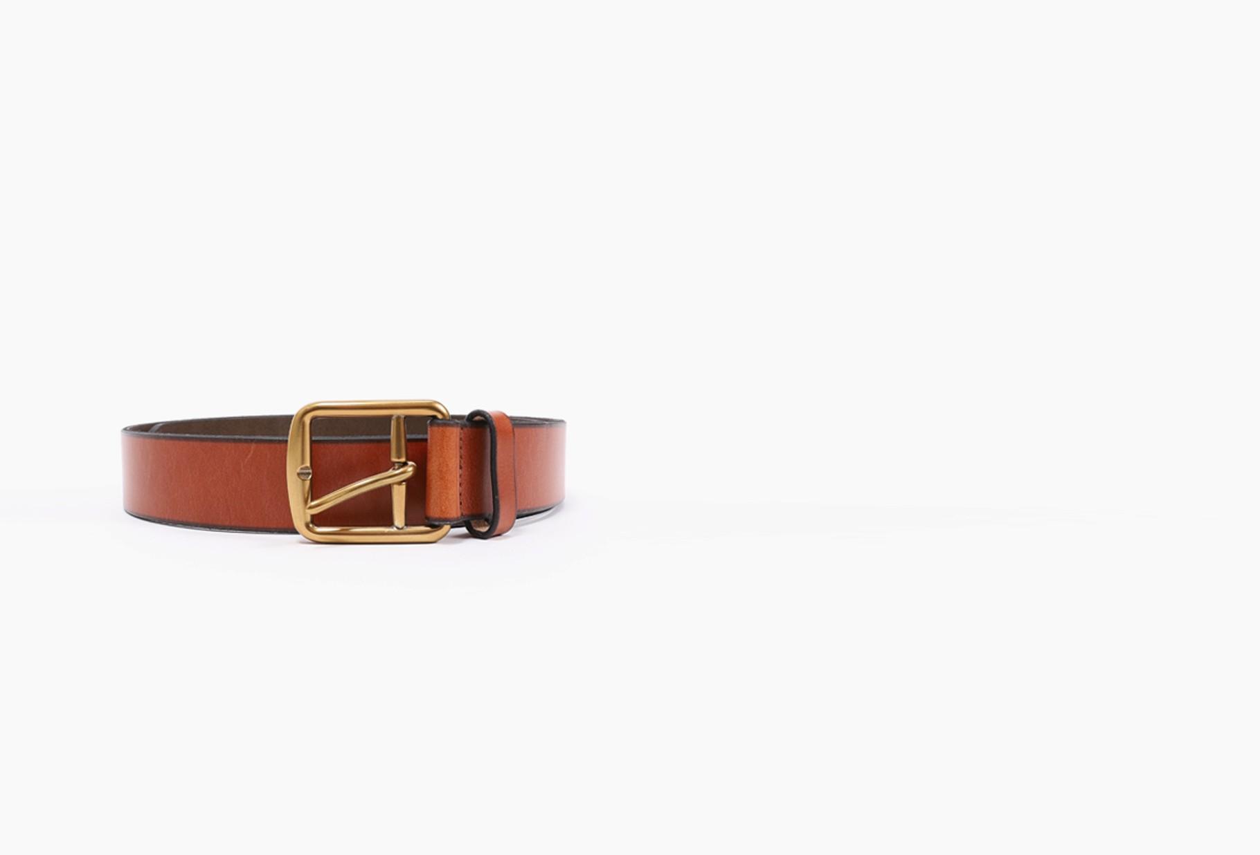 POLO RALPH LAUREN / 3/8 saddlr dress leather Brown