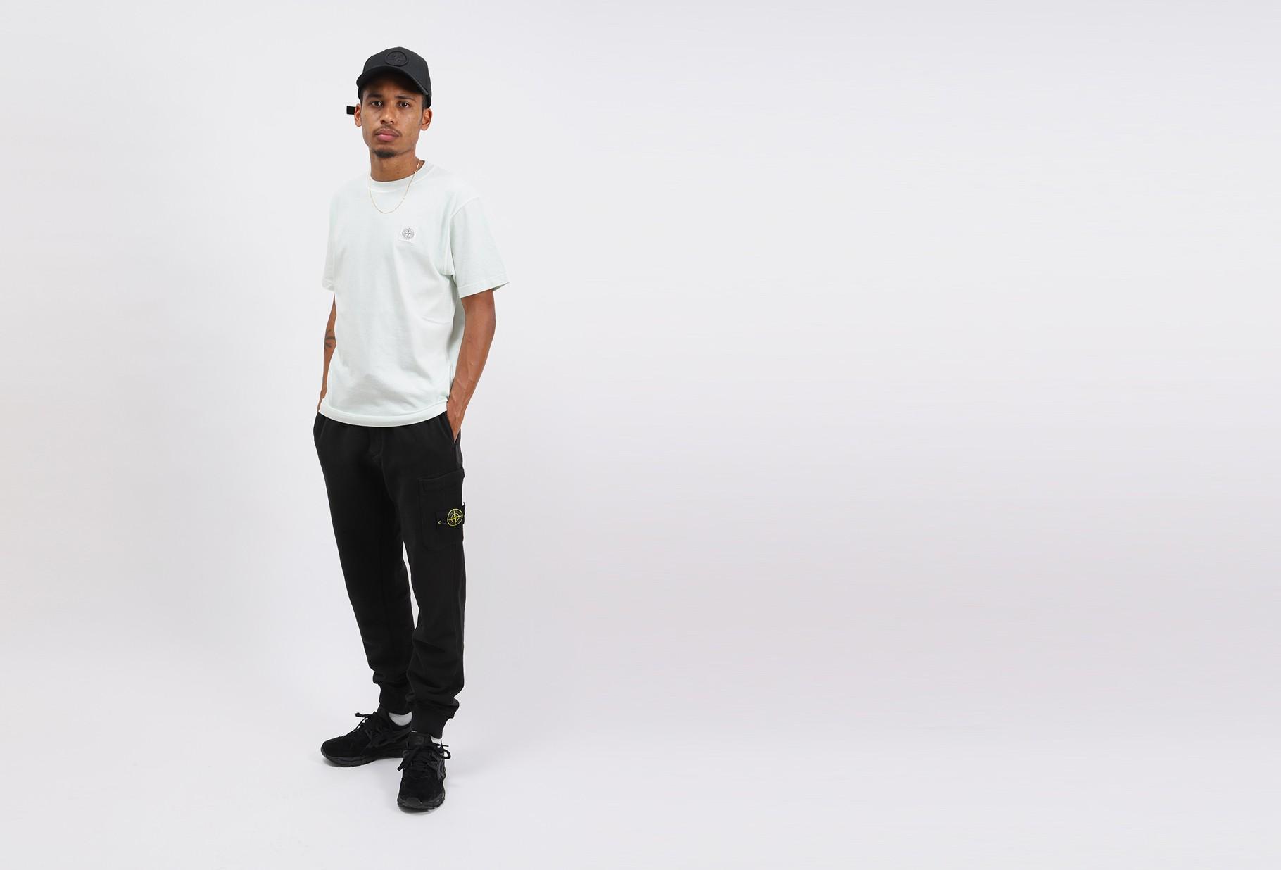STONE ISLAND / 64520 fleece pants v0029 Nero