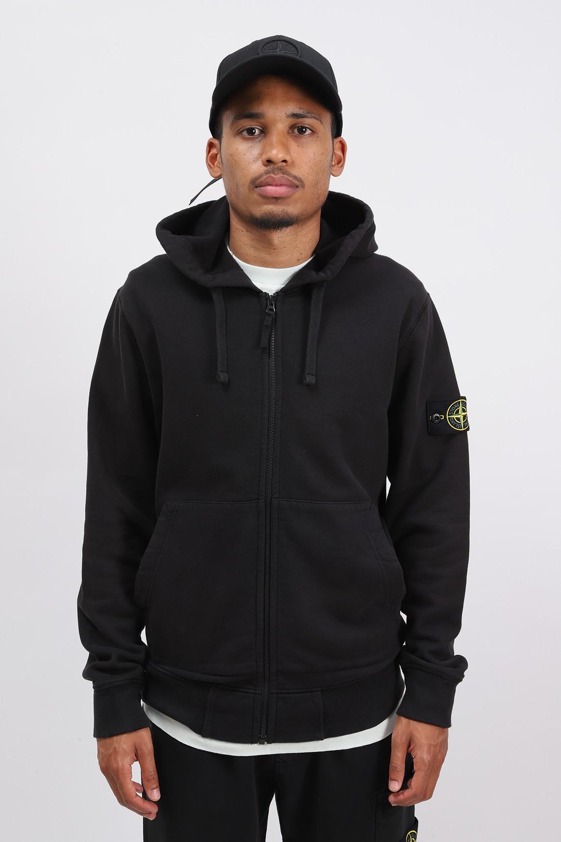 STONE ISLAND / 64220 hooded zip sweater v0029 Nero