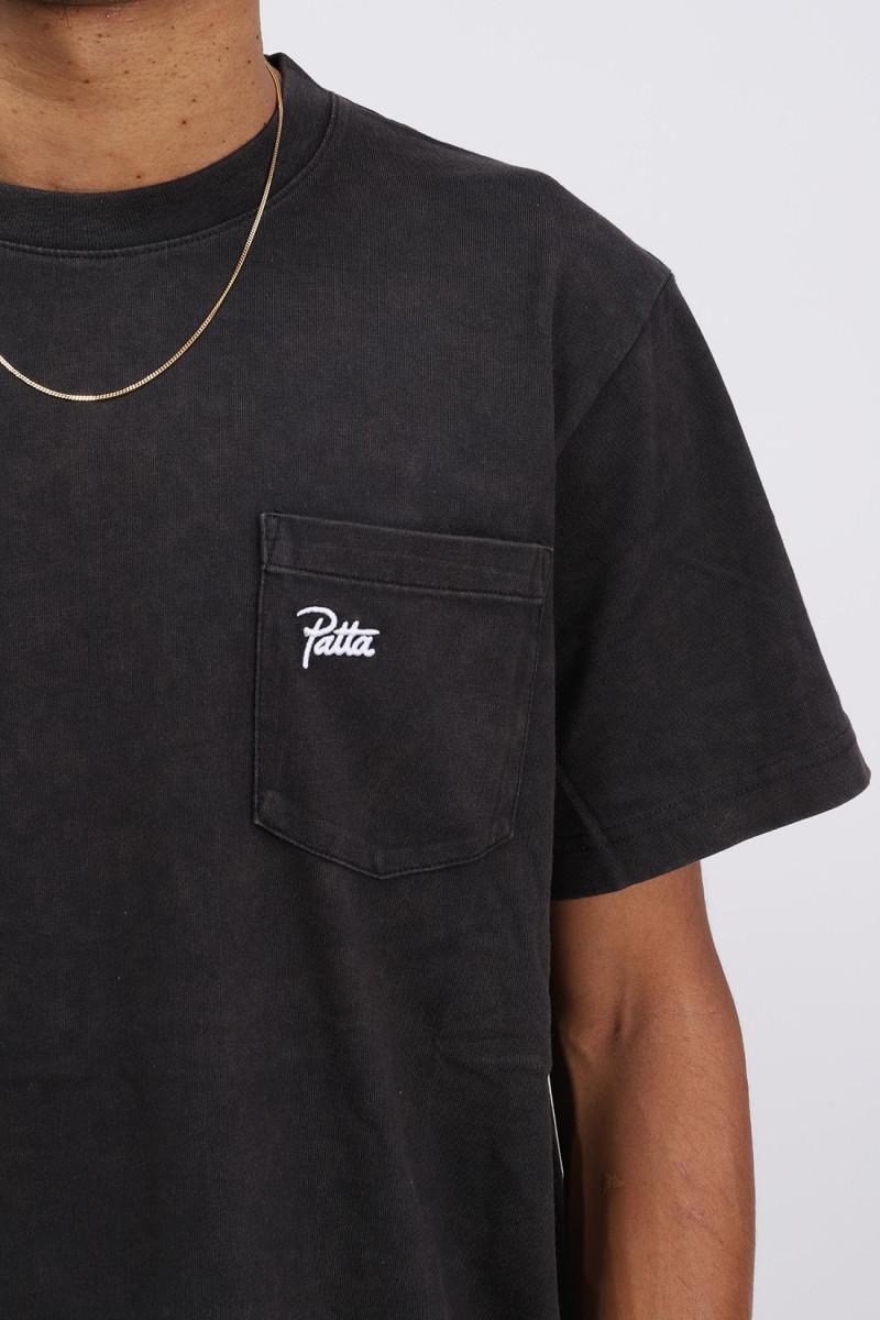 Patta basic washed pocket Black