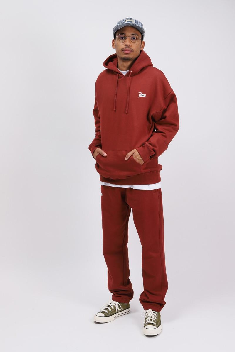 Patta basic hooded sweater Madder brown