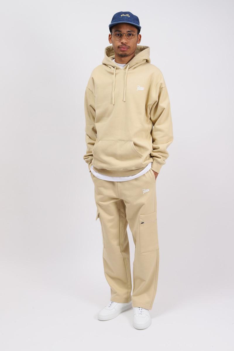 Patta basic hooded sweater Pale kaki