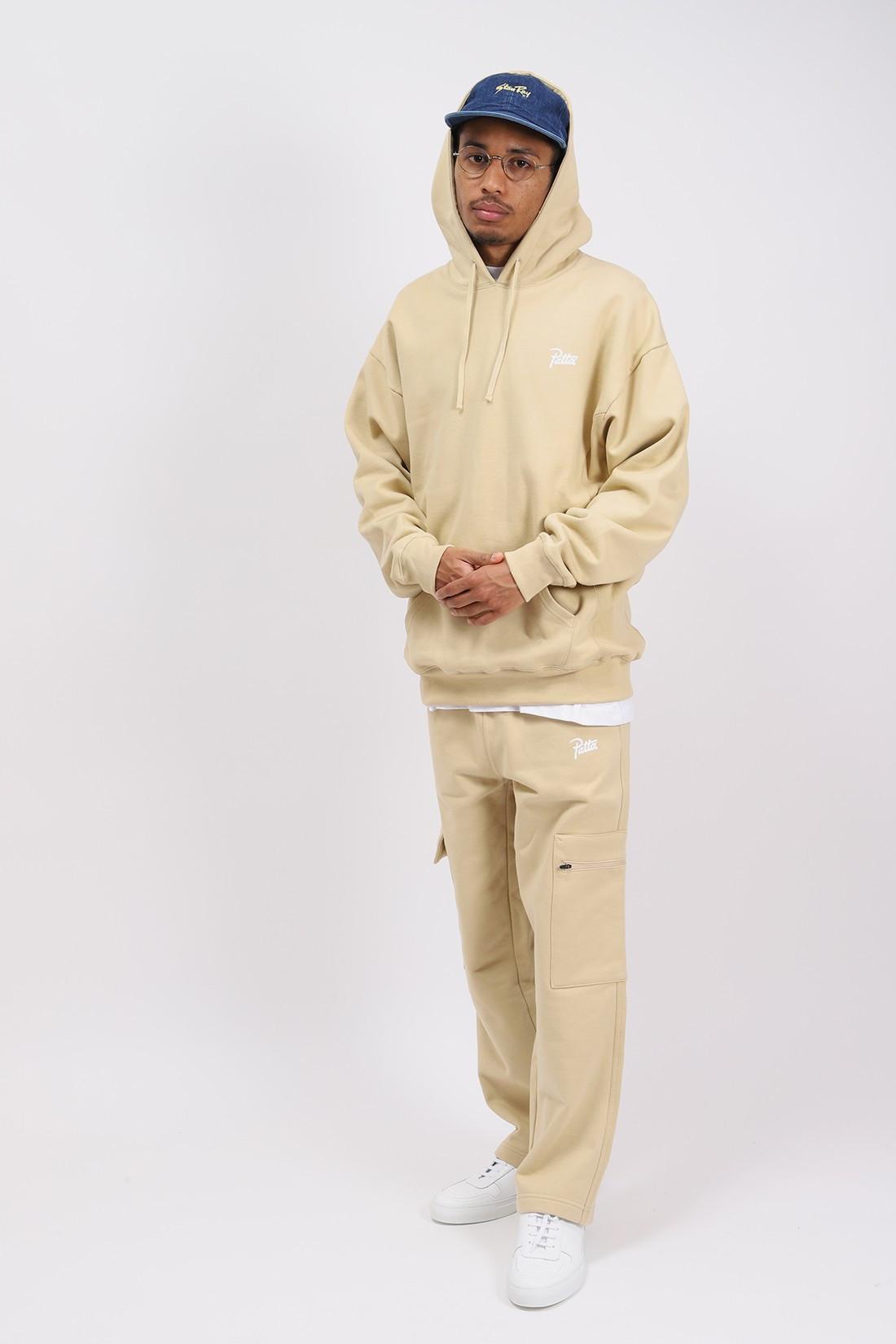 PATTA / Patta basic hooded sweater Pale kaki