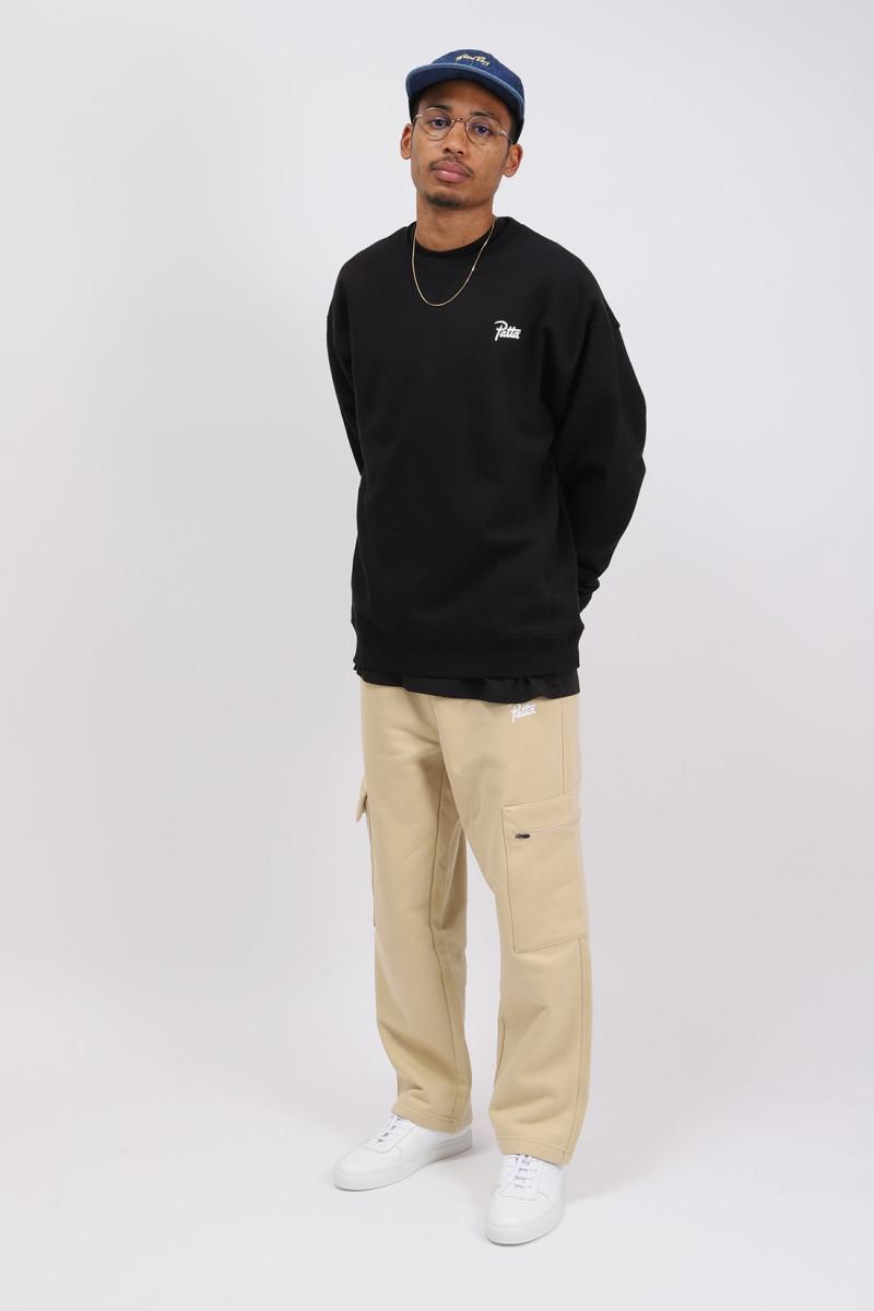 Patta basic crewneck sweater Black